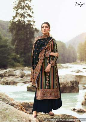 Lt Nitya presents  Velvet  vol 1 Printed Dress Material