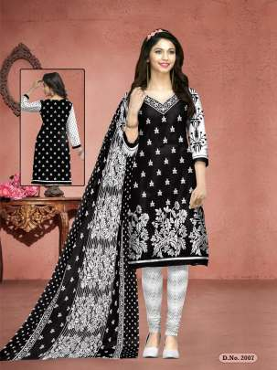 MEENAKSHI BLACK QUEEN BLACK AND WHITE PRINTED