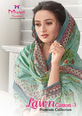 MISHRI LAWN COTTON 3 KARACHI PRINTED CASUAL