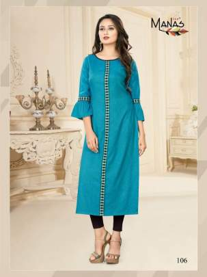 Manas  presents Priyal vol 7 Casual Wear Kurti Collection