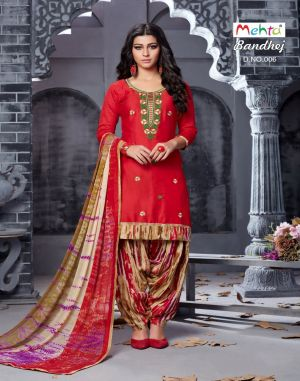 Bandhej : Mehta Dress Materials Catalogue