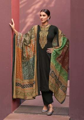 Mumtaz Arts presents Naadirah  Designer Dress Material