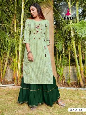 New Launched FVD  by City girl vol 1 Designer Kurti With sharara