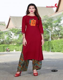 Pehchan vol 2 by koodee party wear kurti with palazzo