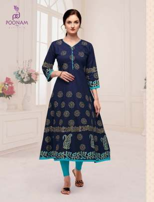 Poonam presents Maddhbala cotton fancy long Kurtis Collection