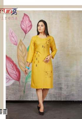 Rung presents  Pirena Casual Wear Kurtis Collection