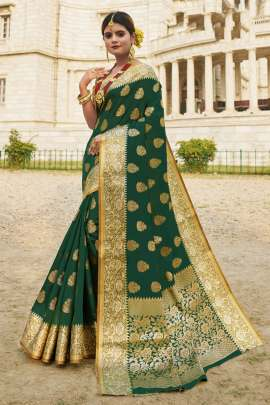 Sangam presents Red Stone Zari Weaving Festive Wear Sarees Collection