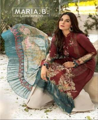 SANIYA MARIA-B COTTON PRINTED & EMBROIDERED