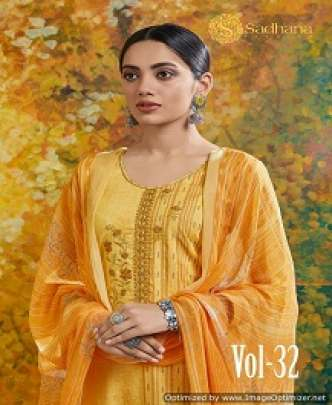 SANSKRUTI SADHANA 32 PURE AZ FANCY WORKED