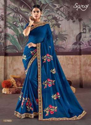 Saroj  presents Netrika Party wear sarees collection