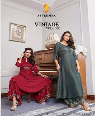 STYLEMAX VINTAGE SLUB COTTON SHARARA WITH