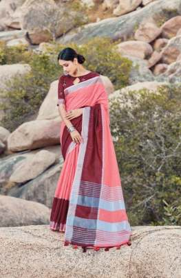 Sangam By  Kaaya Linen Casual Wear Printed Saree Collection