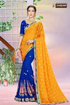 Sangam Presents Kiara Georgette Sarees collection