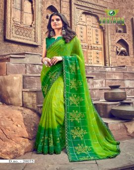 Sanskar  by Nynan  vol 5 Running Wear Georgette Worked Saree