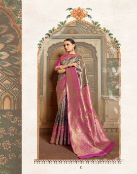 Krushika Silk by shangrila party wear sarees catalogue
