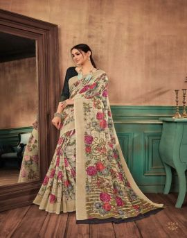 Sangam Shangrila Cotton Printed Saree Catalogue