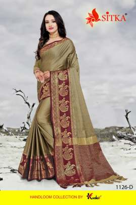 TORAN SILK POLY COTTON  FANCY SAREE BY SITKA