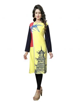 Trendy Printed kurtis at Wholesale textile