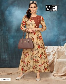 Vee fab  by riwaaz casual wear kurtis catalogue
