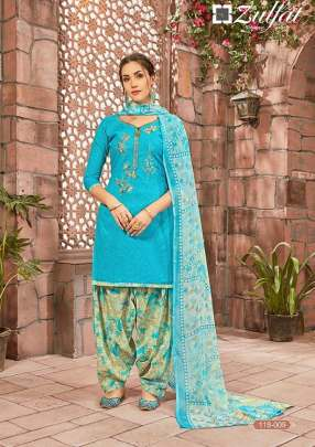 Zulfat presents  Patiyala Babes Casual Wear Dress Material
