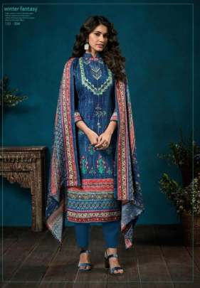 Zulfat presents  Winter Fantasy  Designer Dress Material
