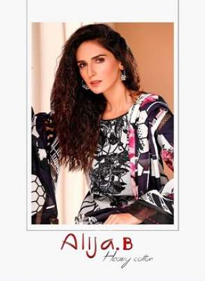ALIJA B HEAVY COTTON DESIGNER KARACHI PRINTED PURE
