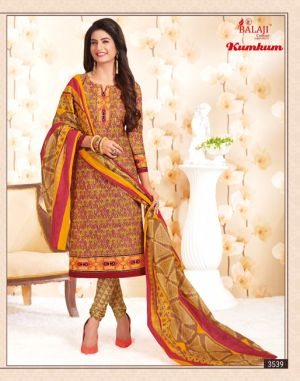 Kumkum Vol 17 : Balaji Dress Materials Catalogue