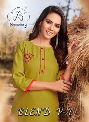 Banwery Blend 4 Cotton Kurti Collection