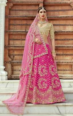 Bridal Lehenga of Magenta color
