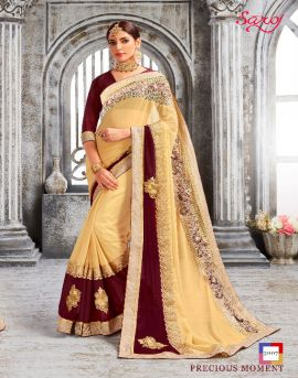 wholesale Saroj Crystal  Georgette saree  catalog