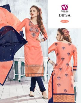 Dipsa-8 Embroidery work wholesale dress materials