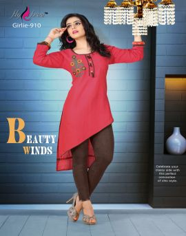 Fly Free Girlie | stitched Kurtis