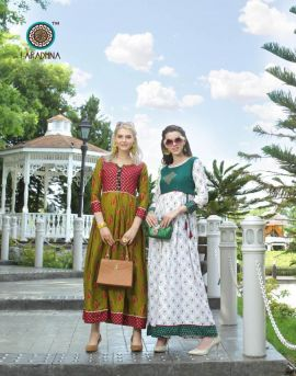 Aradhna present of glamour party wear kurtis catalogue