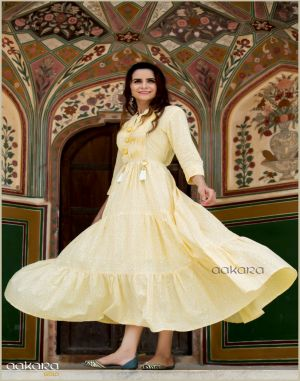 Aakara gold vol 5:anarkali kurti catalog