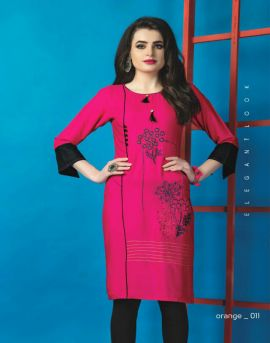Orange : Hirwa Kurti Catalogue