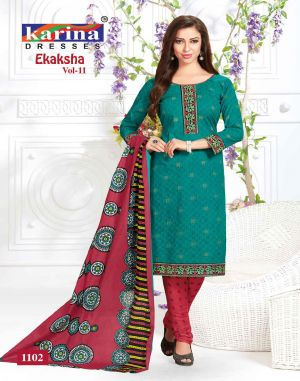 Ekaksha Vol 11 : Karina Dress Materials Catalogue
