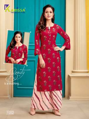 karissa  presents Valentine Designer Kurtis collection