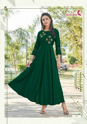 Koodee Phool 2 Heavy Gown Style Long Kurti Collection