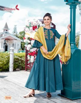 koodee chunri vol 2 - party wear kurtis with dupatta collection