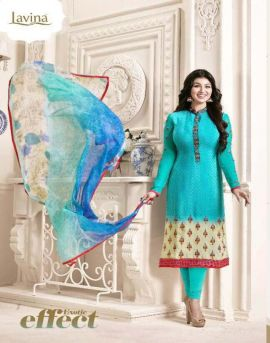 Lavina Ayesha vol-11 | Embroidered with printed salwar suits supplier