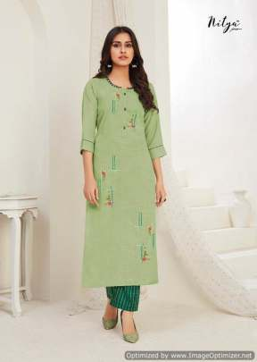 Lt Nitya Kavya Kurti With Bottom Collection