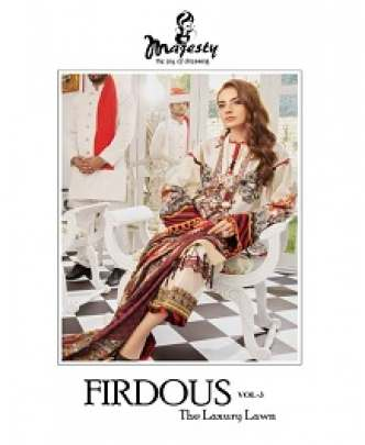 MAJESTY FIRDOUS 3 HEAVY EMBROIDERED JAM SILK COTTON