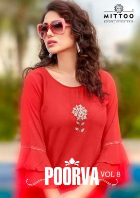 Mittoo Present Poorva vol 8 Top Catalogue