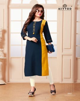 mittoo present priyal vol 8 casual wear kurtis collection