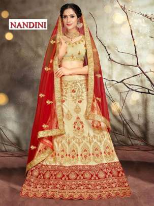 NANDINI HEAVY SILK EMBROIDERED WEDDING WEAR