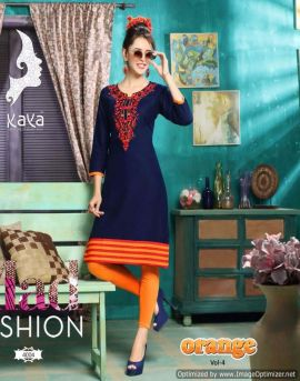 Kaya Orange Vol-4 | kurtis manufacturer