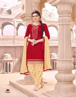 Patiyala Silk : SMF Dress Materials Catalogue