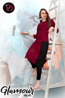 Poorvi Present Glamour vol 2 Kurtis Catalogue