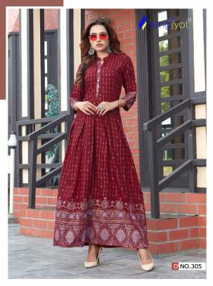 Rangjyot presents Shehnaaz vol 3 Printed Kurti Collection
