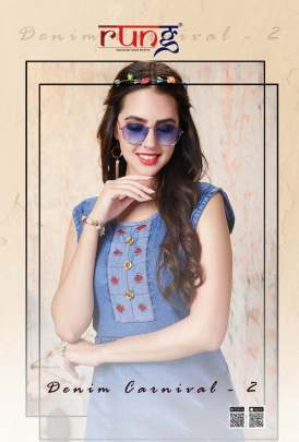 Rung Denim Carnival 2 Cotton Kurti collection